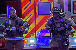 Emergency personnel arriving on scene.