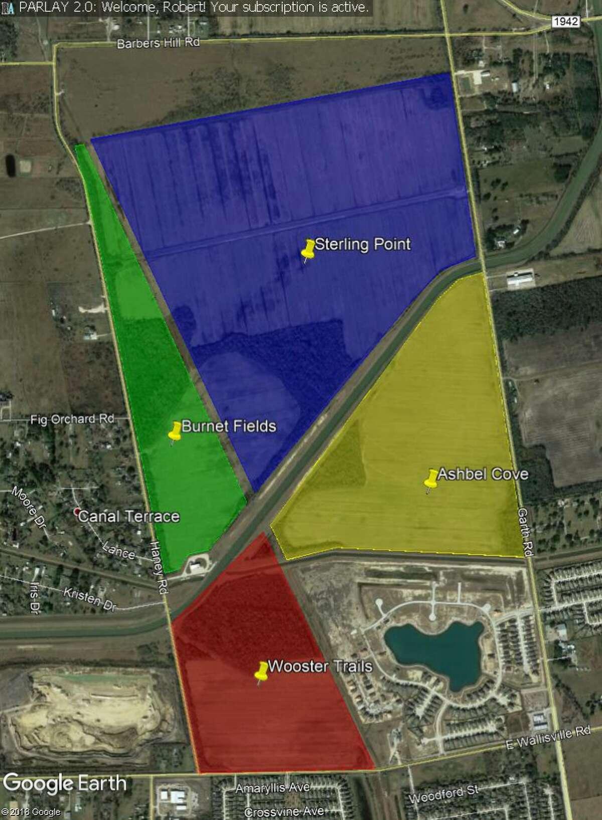 Baytown Crossings will consist of four neighborhoods near Garth and Wallisville roads.