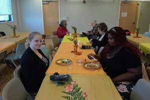 The Community Health & Wellness Center in Torrington held its annual Thanksgiving breakfast on Thursday, welcoming patients, staff and residents for bacon and eggs, coffee and plenty of conversation.