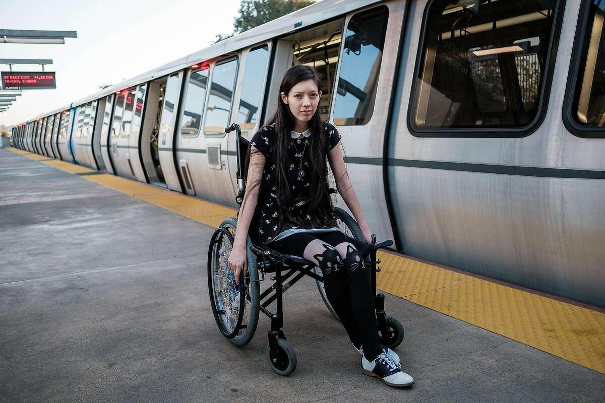 Sophia Humphrey poses for a portrait at the South Hayward Bart Stationin Hayward, Calif. on Thursday, November 21, 2019.