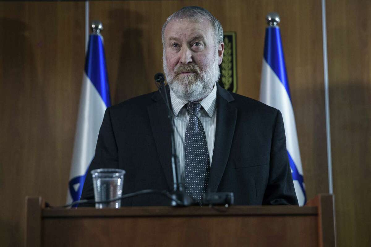 JERUSALEM, ISRAEL - NOVEMBER 21: Avichai Mandelblit, Israel's Attorney General announces that Prime Minister Benjamin Netanyahu to be indicted for bribery, fraud and breach of trust on November 21, 2019 in Jerusalem, Israel. Netanyahu is the first sitting Israeli Prime Minister to charged with crime. (Photo by Amir Levy/Getty Images)