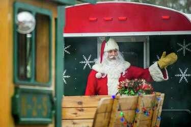 Waving Santa and Reindeer Kids Christmas Thank You Postcards 10