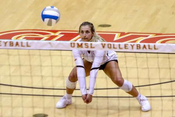 Edwardsville High School grad and UMSL sophomore Megan Woll earned Libero of the Year for the Great Lakes Valley Conference.