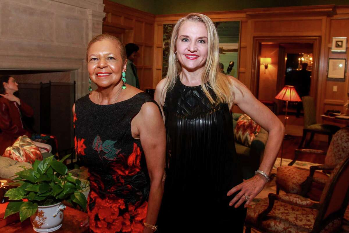 Co-chairs Yvonne Cormier, left, and Mary D'Andrea at Contemporary Art Museum Houston's