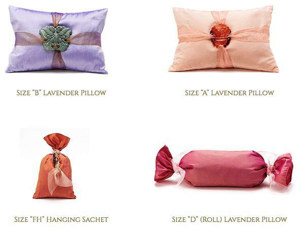 Lavender-scented pillows by Cynthia Alexander Designs will be on sale at the Holiday Market at Old Town Hall in Wilton from Dec. 6 through Dec. 8.