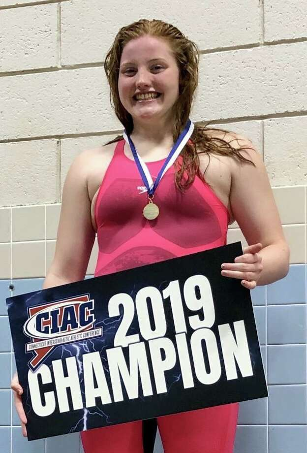 Trumbull High sophomore broke the school record to win the state title in the 100-yard breaststroke and earn All-American at the Class LL championships. Photo: Contributed Photo / Trumbull High Athletics / Connecticut Post