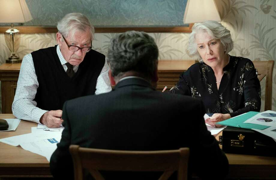 "This image released by Warner Bros. Pictures shows Ian McKellen, left, and Helen Mirren in a scene from ""The Good Liar."" Photo: Chia James / Associated Press / © 2019 Warner Bros. Entertainment Inc. and BRON Creative USA, Corp. All Rights Reserved"