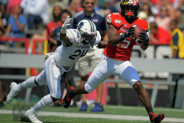 """We still have room to finish off strong,"" receiver Brian Cobbs, right, said of Maryland 's final two games of the season."