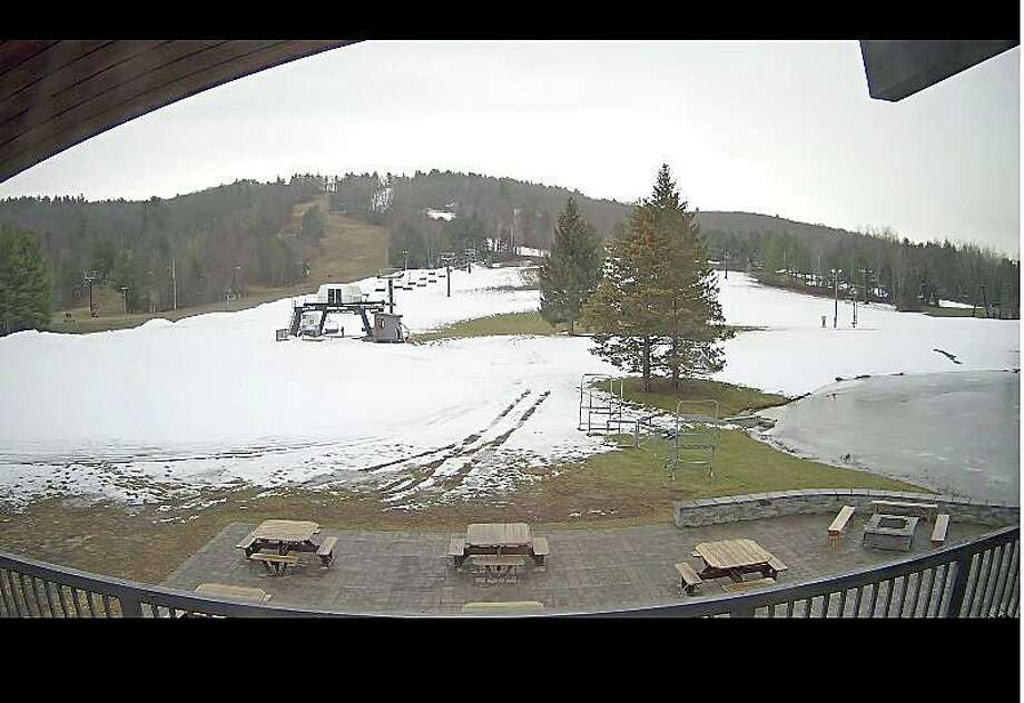 Connecticut's ski season will begin on Saturday, Nov. 23, 2019 when Mohawk Mountain in Cornwall kicks off its season. The early opening was helped by below-normal temperatures that allowed Mohawk to turn on its snowmaking machines. Photo: Mohawk Mountan Web Cam