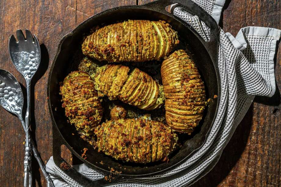 Hasselback. Because who doesn't like crispy-edged potatoes?