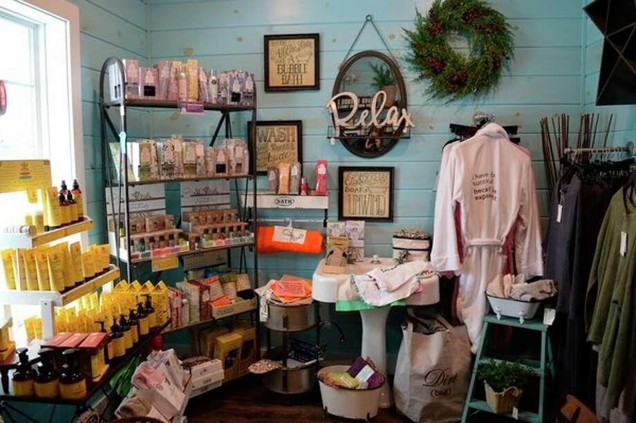 The 'Bath and Laundry' room, featuring items like soaps, lotions and essential oils, is one of the many themed rooms at Super Cute, located at 5870 Midland Road in Freeland. (Emilly Davis/For the Daily News)