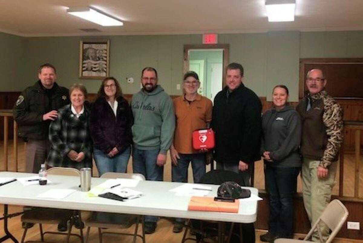 The Chase Township Board of Trustees accepted two AEDs from the Main Street Foundation on behalf of the township at a meeting in November. (Submitted photo)