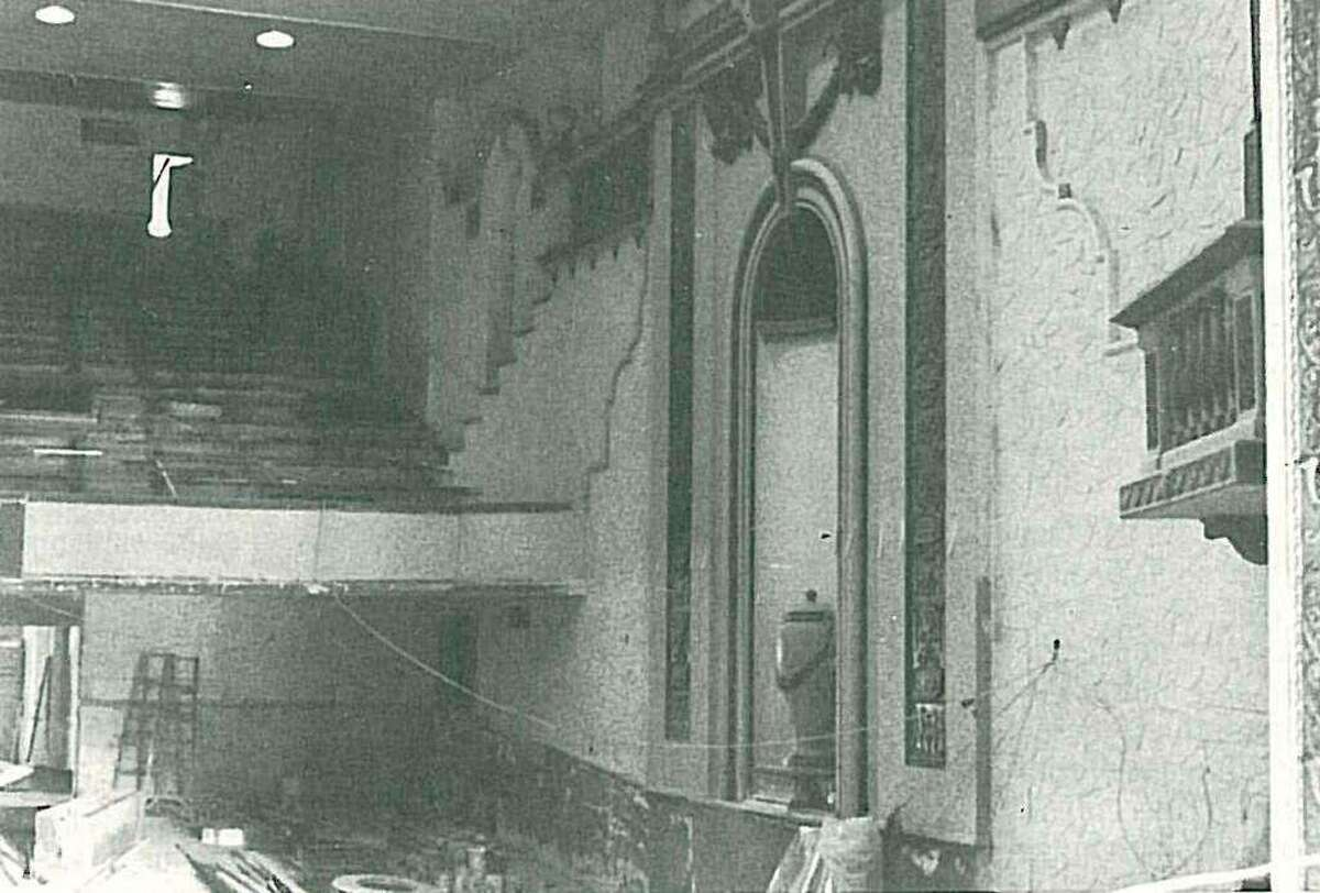 Inside the Crighton Theatre as renovations were taking place in the late 1970s. The grand theatre opened with much fanfare on Jan. 25, 1979 with a week full of events.