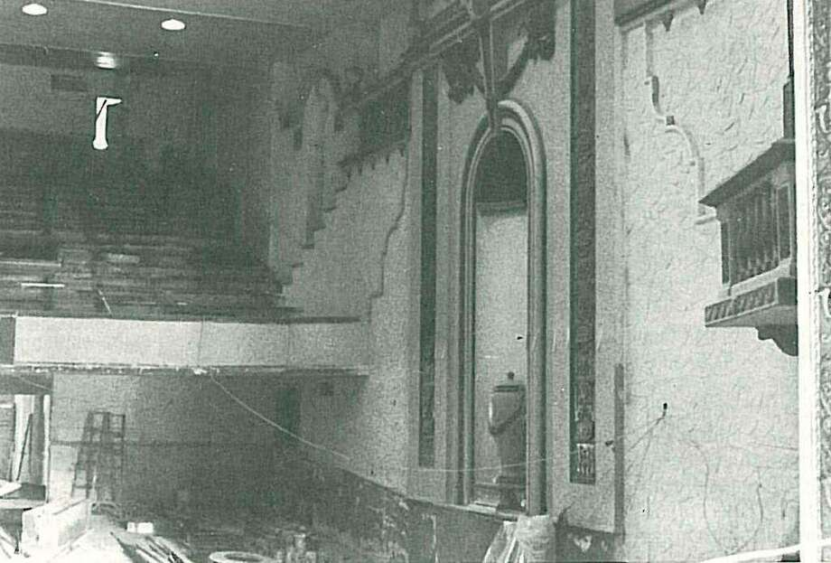 Inside the Crighton Theatre as renovations were taking place in the late 1970s. The grand theatre opened with much fanfare on Jan. 25, 1979 with a week full of events. Photo: Photo Courtesy The Montgomery County Genealogical And Historical Society