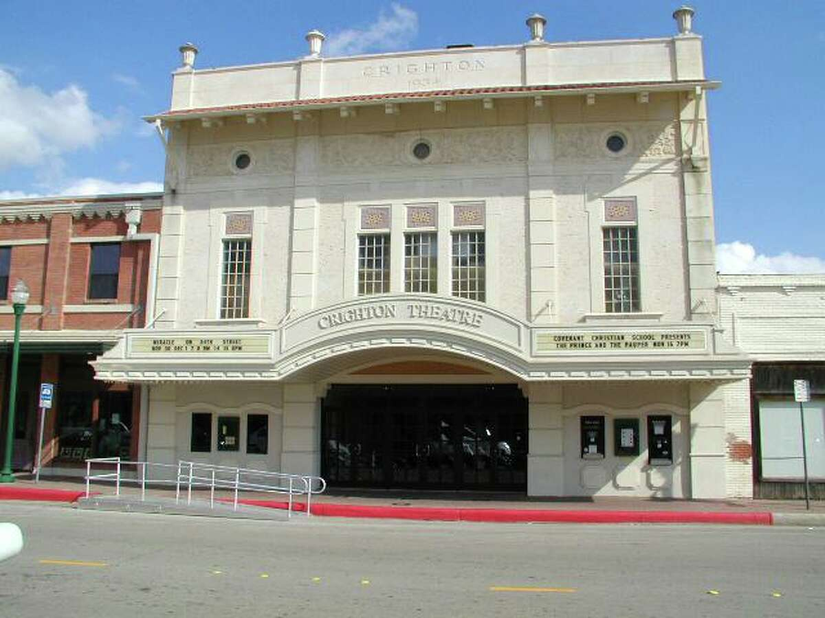 The Crighton Theatre is pictured on Main Street in downtown Conroe. The historic theatre originally opened in November 1935.