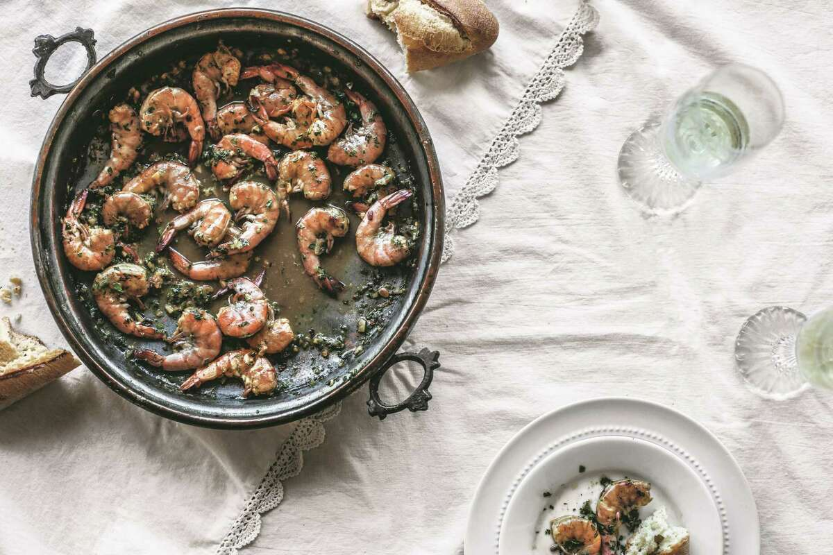 Louisiana Barbecued Shrimpfrom Two Centuries of African-American Cooking