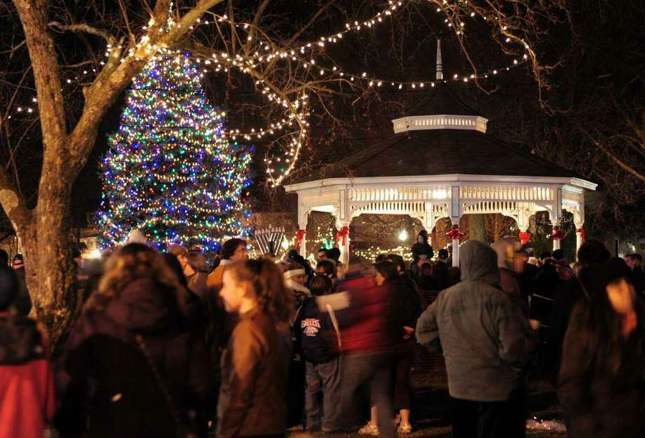 Milford's annual Festival of Lights and Tree Lighting will be held on Friday, Nov. 29, beginning at 5:30 p.m., on the Milford Green. Photo: Christian Abraham.