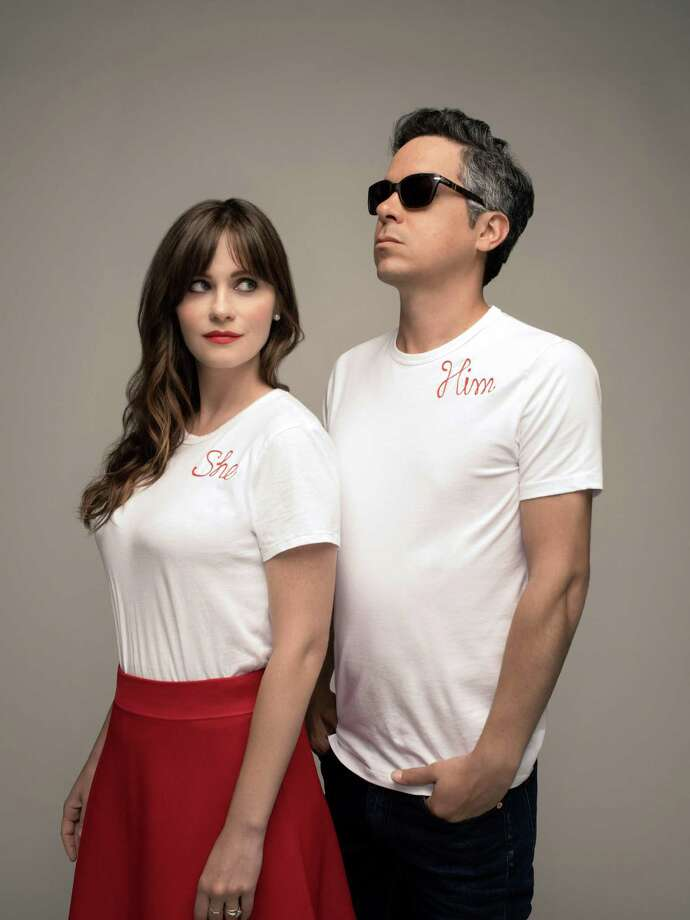 Zooey Deschanel and guitarist M. Ward, of She & Him, bring their Christmas tour to New Haven's College Street Music Hall, Dec. 7. Photo: Dan Winters / Contributed Photo