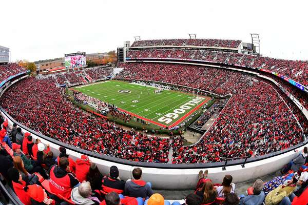 Georgia's famed Sanford Stadium will be the venue Saturday when Texas A&M and the host Bulldogs meet for the first time as SEC members. The Aggies joined the league in 2012.