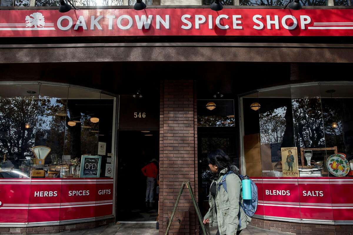Oaktown Spice Shop is seen along Grand Avenue in Oakland, Calif. Wednesday, Nov. 13, 2019.