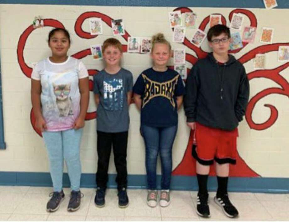Bad Axe Middle School recently named its November Citizens of the Month. They are Abigail Baranski Grade 3, Cody Palmer Grade 4, Raegan Galbraith Grade 5 and Richard Finney Grade 6. (Submitted Photo)