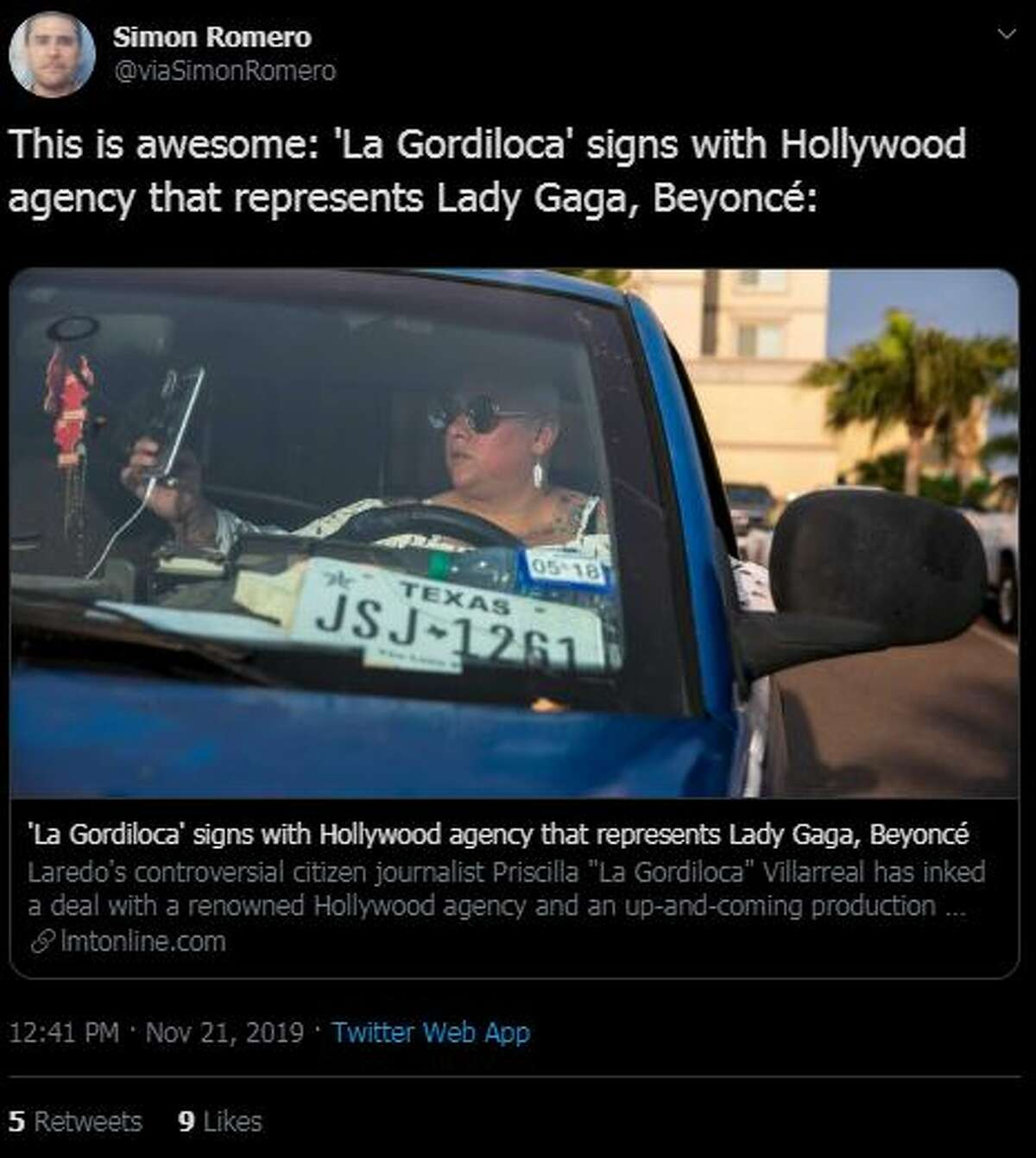 News of 'La Gordiloca' signing with a Hollywood talent agency spread around Laredo, with locals reacting to news with both celebration and derision.