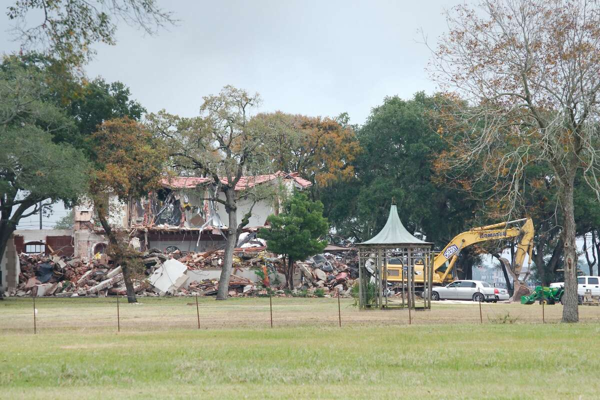 The historic 1929 West mansion in Clear Lake was demolished Friday, Nov. 22.