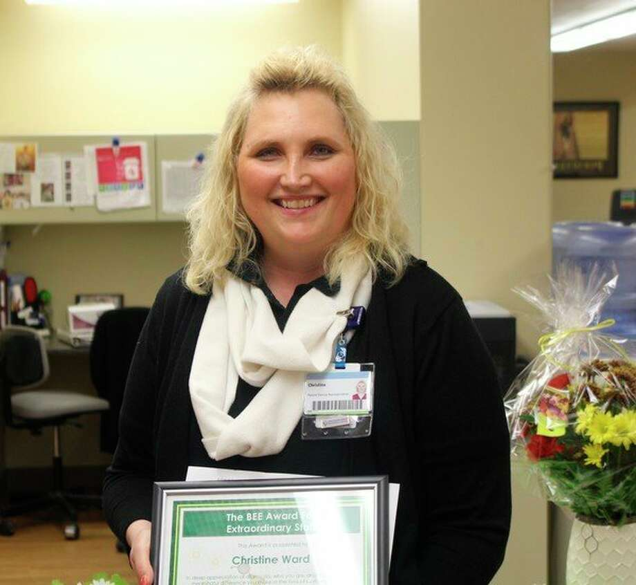 Christine Ward was recognized with the BEE Award for her exceptional customer service in securing treatment and assisting with billing for a patient. (Courtesy photo)