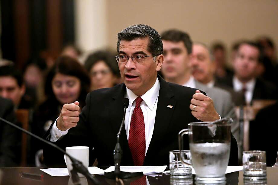 California Attorney General Xavier Becerra says the federal Department of Education is reneging on promises it made to students. Photo: Gary Coronado / TNS