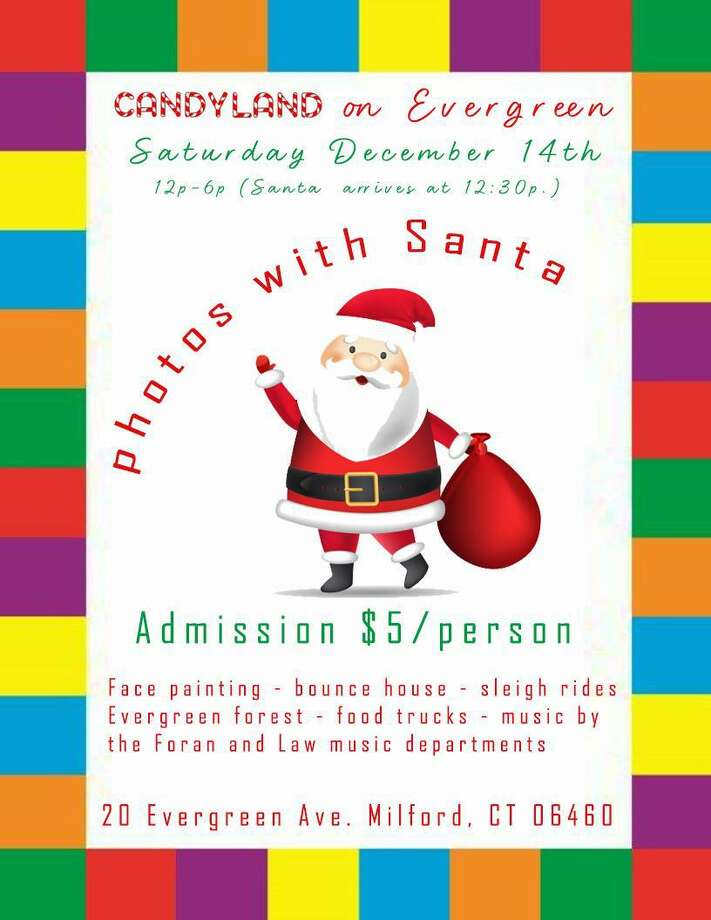 Candyland on Evergreen, featuring photos with Santa will be held on Saturday, Dec. 14, from noon-6:30 p.m., at United Way of Milford. Photo: Contributed Photo.