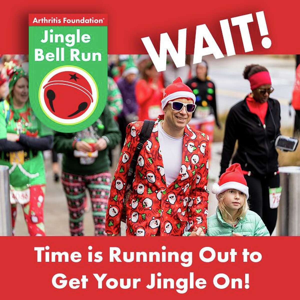 The Jingle Bell Run 5K in the New Haven area will be held on the waterfront in West Haven.