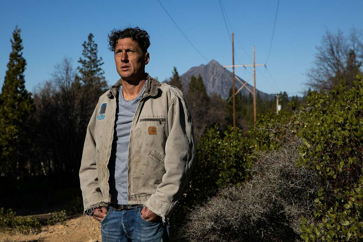 Former PG&E lineman Todd Hearn poses for a portrait in Mt. Shasta, California, November 20, 2019. Hearn was fired after raising wildfire safety concerns, despite 22 years on the job.