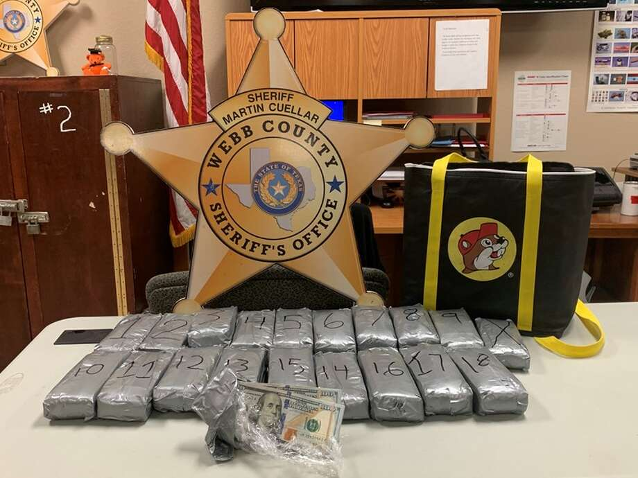 The Webb County Sheriff's Office said deputies seized $200,000 following a traffic stop by Bob Bullock Loop and Interstate 35 on Wednesday. Photo: Courtesy