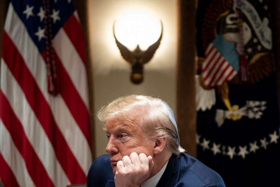 US President Donald Trump listens during a meeting in the Cabinet Room of the White House about vaping November 22, 2019, in Washington, DC. (Photo by Brendan Smialowski / AFP) (Photo by BRENDAN SMIALOWSKI/AFP via Getty Images)