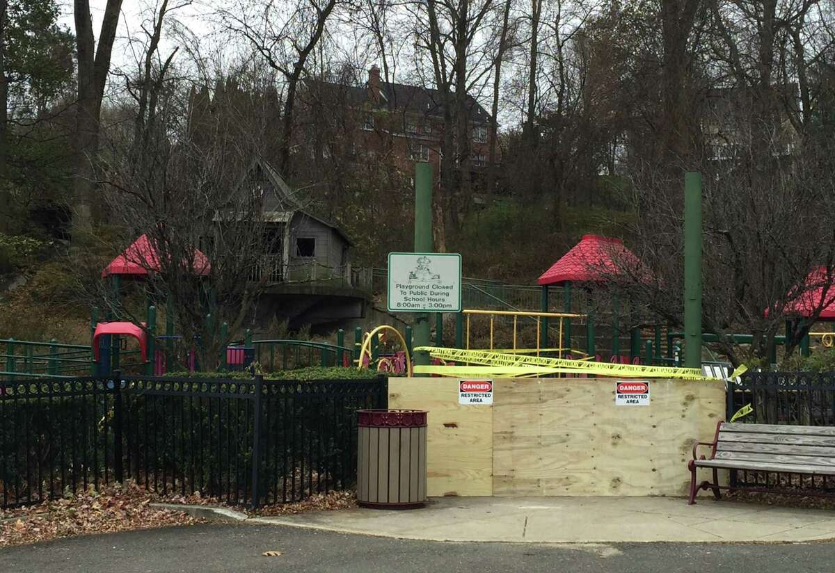 The playground at Stillmeadow Elementary School was closed as of Friday, Nov. 15.