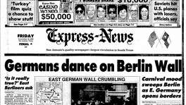 Nov. 10, 1989: Germans dance on Wall