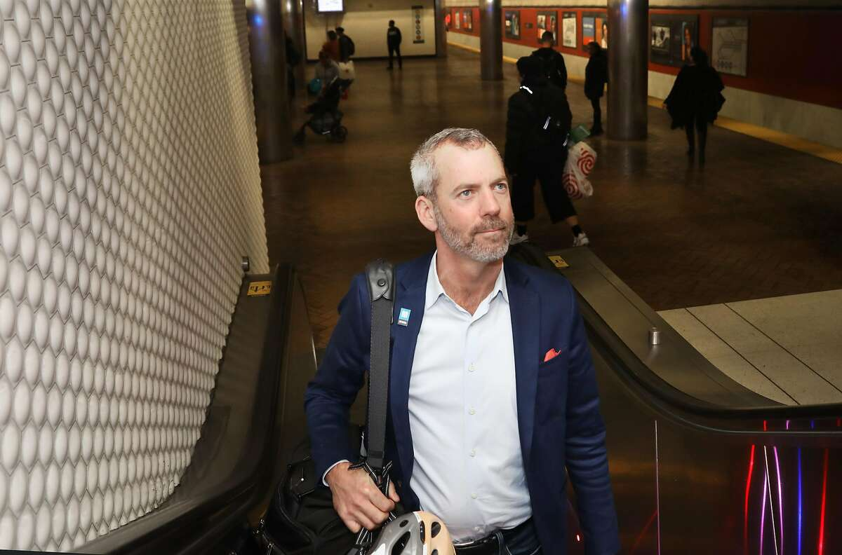 Muni director Jeffrey Tumlin seen coming from the Powell St. Station on Market St.on Wednesday, Nov. 20, 2019, in San Francisco, Calif.