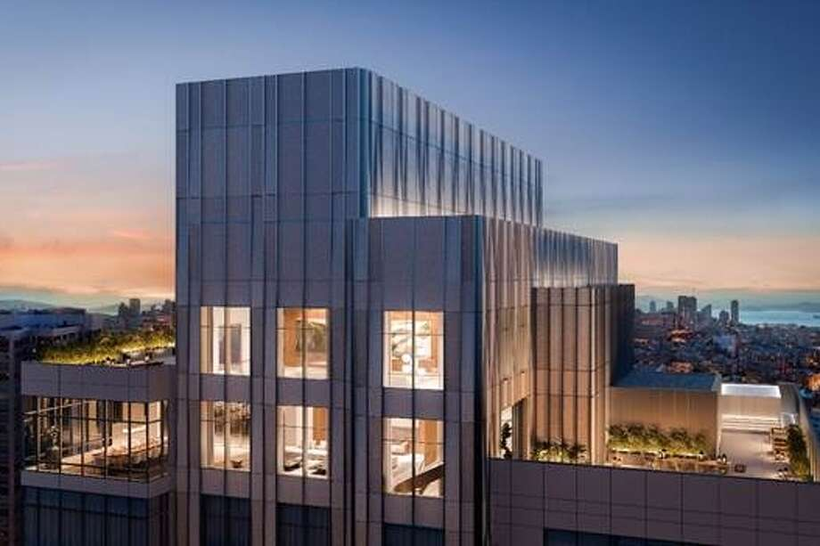 """The forthcoming Four Seasons Private Residences at 706 Mission in San Francisco will feature a 10,000 square foot, two level grand penthouse (floors 43 and 45; skipping 44 as 4 is considered unlucky in Chinese culture). The penthouse space will be delivered in July as an empty shell to accommodate design specifications, providing the buyer with an opportunity to create a residence that aligns to their specifications,"" according to a press statement. Photo: 706 Mission Street Co LLC 