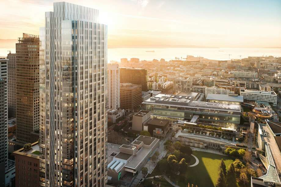 In a new 45-story tower alongside the renovated historic Aronson Building, the forthcoming Four Seasons Private Residences will include 146 new residences. Photo: 706 Mission Street Co LLC | Steelblue
