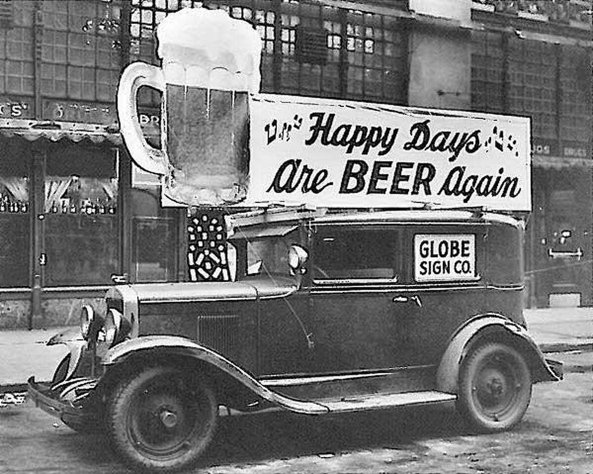 A photograph taken probably around 1933 at the end of Prohibition.