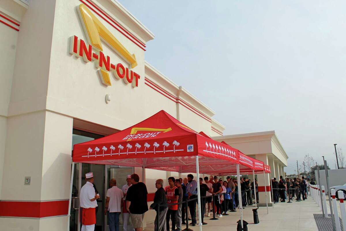 Burger fans lined up to get in to the new In-N-Out burger stand in Rosenberg on Friday, Nov. 22.