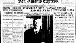 Oct. 15, 1912: Roosevelt shot