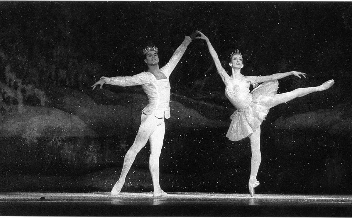 (r) Snow King Rodolphe Cassand and Snow Queen Katita Waldo at the dress rehearsal of San Francisco Ballet's Nutcracker, December 14, 1993 Photo ran 12/16/1993, P. E1