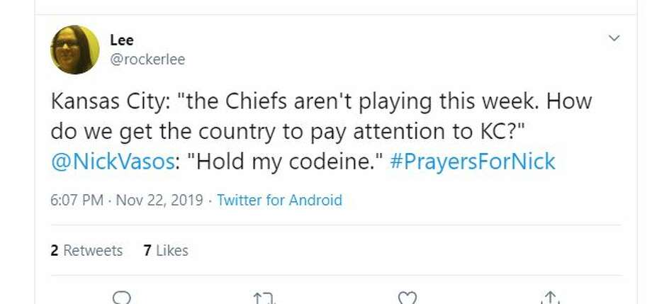 "Kansas City: ""the Chiefs aren't playing this week. How do we get the country to pay attention to... Photo: Twitter"