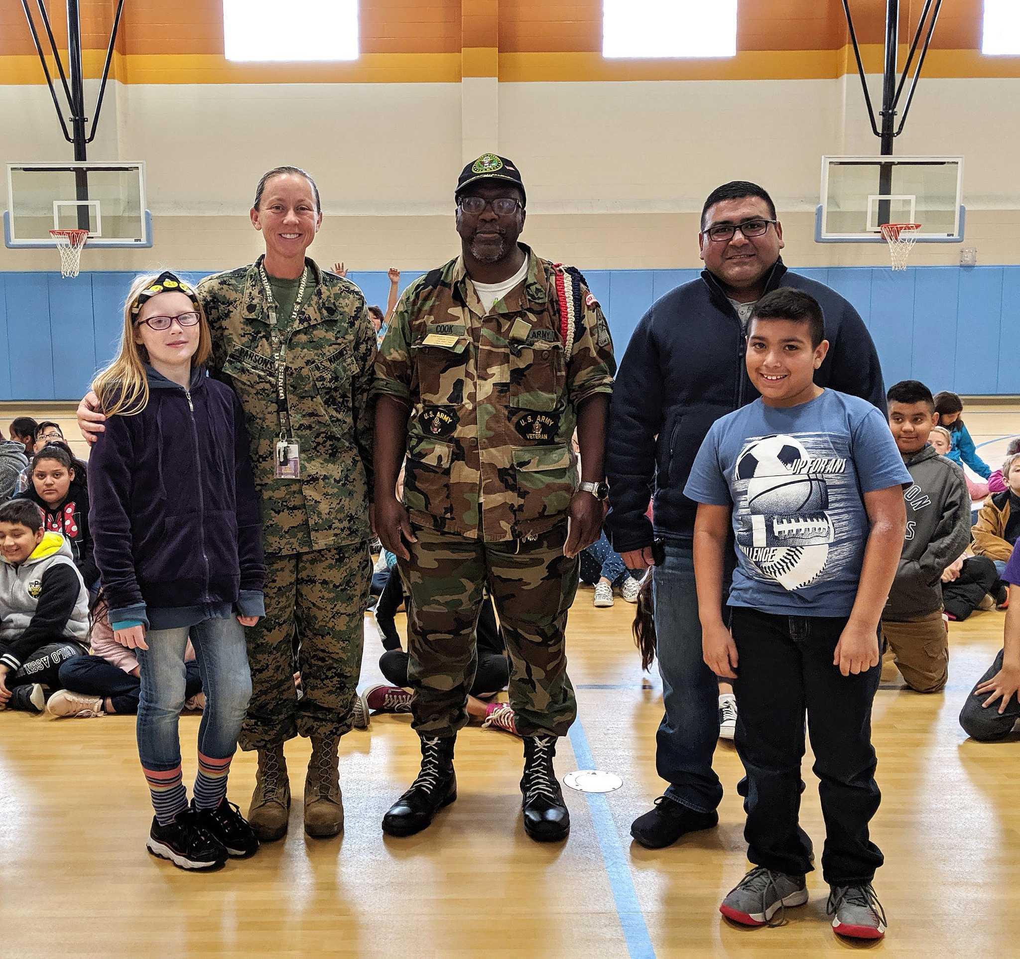 SFA elementary students celebrate Military Week
