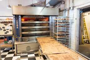 Large commercial oven in the kitchen of Tartine Bakery in the Mission District neighborhood of San Francisco, California; Tartine is among the most popular bakeries in San Francisco, September 30, 2018. (Photo by Smith Collection/Gado/Getty Images)