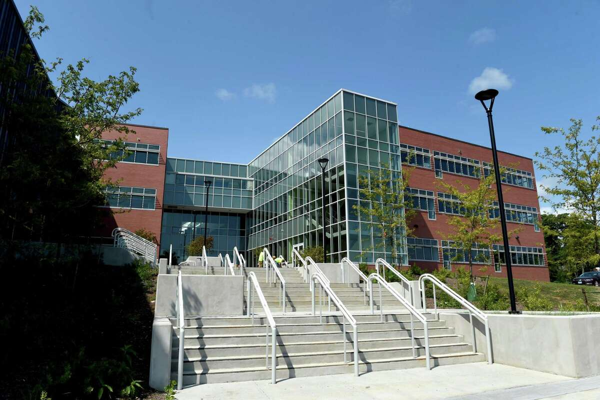 (Peter Hvizdak - New Haven Register) A section of the new Guilford High School in Guilford Wednesday, August 19, 2015.