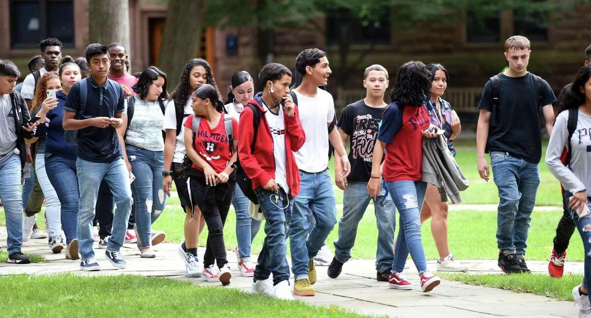 Wilbur Cross High School, Common Ground High School and Yale University students