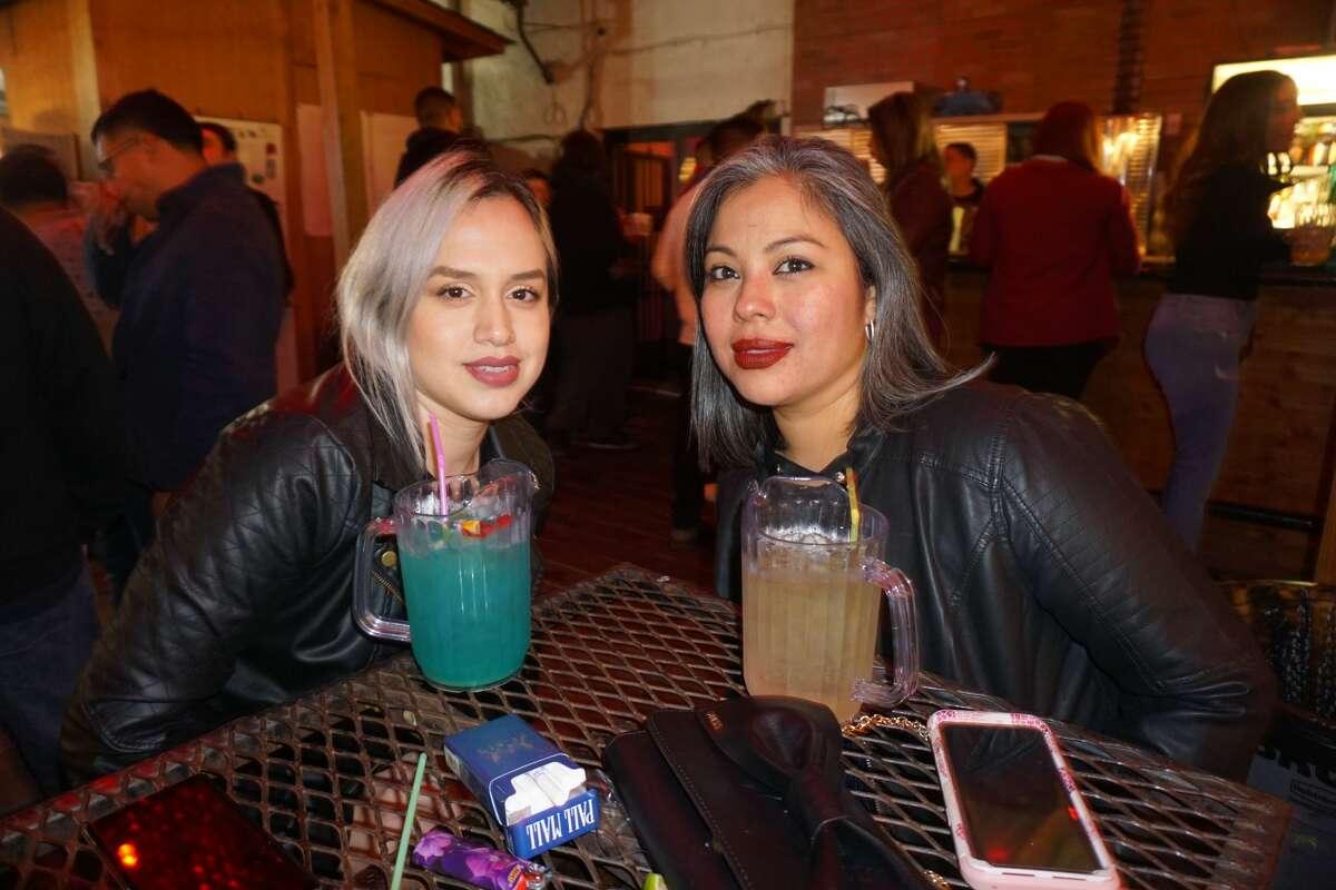Sandra Macias and Liliana Cedillo at The Happy Hour Downtown Bar