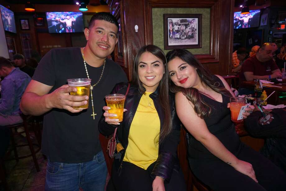 Eddie Cardenas, Kassy Garza and Lucia Pena at The Tilted Kilt Pub & Eatery Photo: Jose Gustavo Morales/Laredo Morning Times